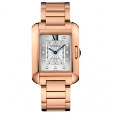 AAA Cartier Tank Anglaise diamond watch for men WJTA0005 18K pink gold