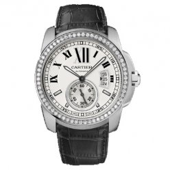 AAA Calibre de Cartier automatic diamond watch WF100003 steel