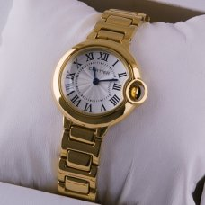 AAA Ballon Bleu de Cartier small quartz watch replica 18kt yellow gold