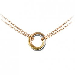 AAA Sweet Trinity de Cartier 3-gold necklace replica B7218200 pink gold chain