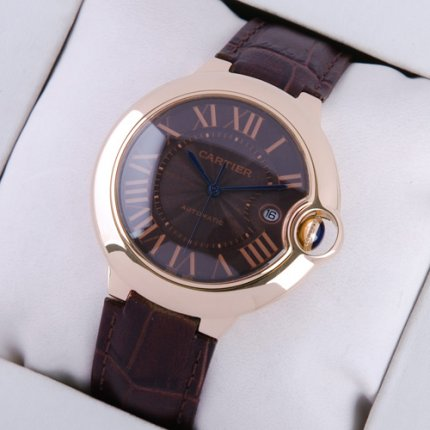 AAA Ballon Bleu de Cartier large watch black dial 18K pink gold