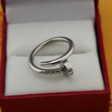 AAA Cartier Juste un Clou ring replica B4099200 white gold