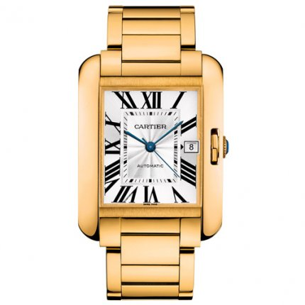 AAA Cartier Tank Anglaise replica watch for men W5310018 18K yellow gold