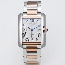 AAA Cartier Tank Anglaise watch for men W5310006 two-tone pink gold and steel