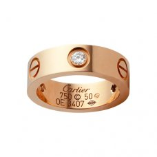AAA Cartier Love pink gold ring B4087500 with three diamonds