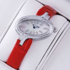 AAA Delices de Cartier diamond steel womens watch white mother of pearl dial