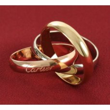 AAA Trinity de Cartier 3-gold ring replica B4052700