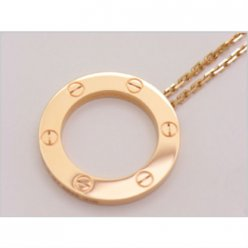 AAA Cartier Love pink gold necklace B7014400 with pendant