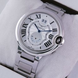 AAA Ballon Bleu de Cartier W6920011 two timezone GMT watch stainless steel