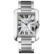 AAA Cartier Tank Anglaise replica watch for men W5310008 stainless steel