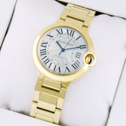 AAA Ballon Bleu de Cartier swiss automatic watch replica 18kt yellow gold