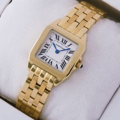 AAA Cartier Santos Demoiselle 18K yellow gold watch for women