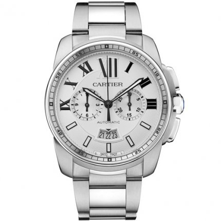AAA Calibre de Cartier Chronograph watch W7100045 stainless steel
