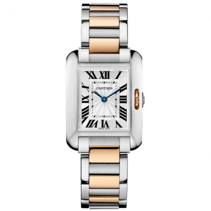 AAA Cartier Tank Anglaise watch for women W5310036 two-tone pink gold and steel