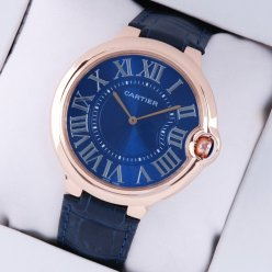 AAA Ballon Bleu de Cartier extra large watch blue dial 18K pink gold