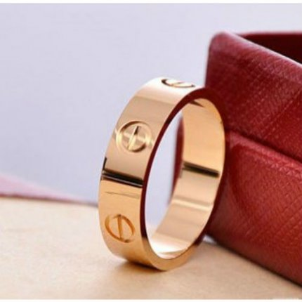 AAA Cartier Love ring imitation B4084800 in pink gold
