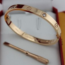 AAA Cartier Love pink gold diamond bracelet with screw driver B6036016