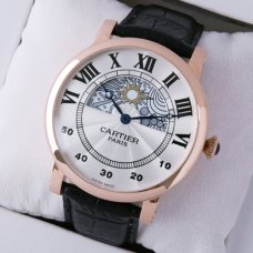 AAA Rotonde de Cartier day-night collection privee 18K pink gold watch for men