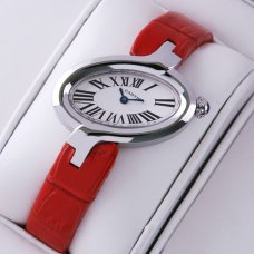 AAA Delices de Cartier watch for women stainless steel leather strap