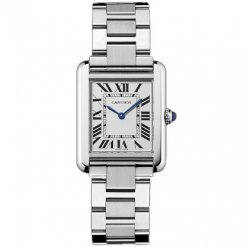 AAA Cartier Tank Solo ladies watch imitation W5200013 stainless steel