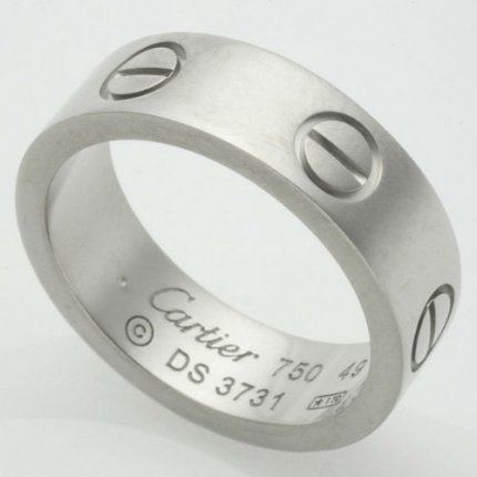 AAA Cartier Love replica ring B4084700 in white gold
