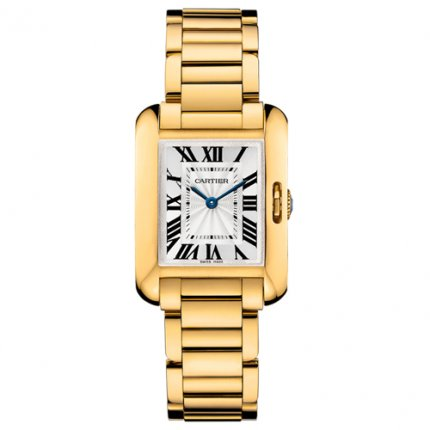 AAA Cartier Tank Anglaise replica watch for women W5310014 18K yellow gold