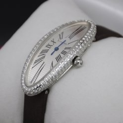 AAA Cartier Baignoire diamond watch for women 18K white gold