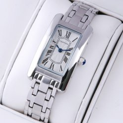 AAA Cartier Tank Americaine watch replica 18K white gold W26019L1