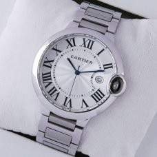 AAA Ballon Bleu de Cartier watch silver dial stainless steel
