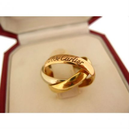 AAA Trinity de Cartier 3-gold replica ring small model B4086100