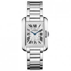 AAA Cartier Tank Anglaise replica watch for women W5310023 18K white gold