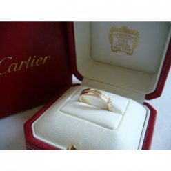 AAA Trinity de Cartier 3-gold diamond wedding band replica B4052900