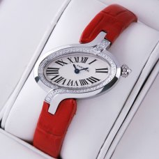 AAA Delices de Cartier diamond watch for women stainless steel leather strap