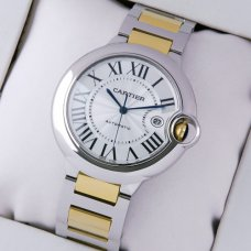 AAA Ballon Bleu de Cartier W69009Z3 watch two-tone 18K yellow gold and steel