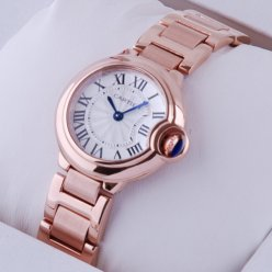 AAA Ballon Bleu de Cartier small quartz watch replica 18kt pink gold