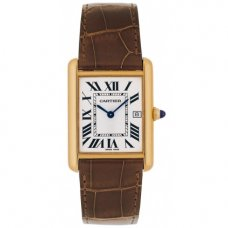 AAA Cartier Tank Louis 18K yellow gold mens watch replica W1529756