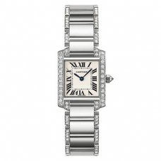 AAA Cartier Tank Francaise diamond watch for women WE1002SF 18K white gold