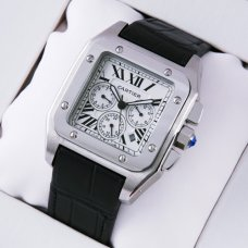 AAA Cartier Santos 100 Chronograph watch for men stainless steel