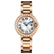 AAA Ballon Bleu de Cartier small swiss quartz pink gold watch WE9002Z3
