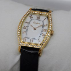 AAA Cartier Tortue diamond watch for women 18K yellow gold