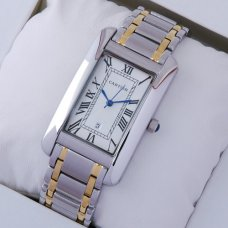 AAA Cartier Tank Americaine mens watch two-tone 18K yellow gold and steel