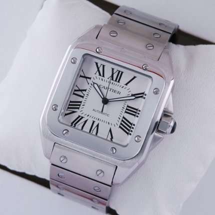 AAA Cartier Santos Galbee mens watch replica W200737G stainless steel