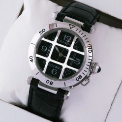 AAA Pasha de Cartier cage design swiss watch for men steel