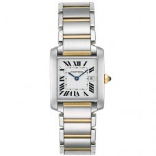 AAA Cartier Tank Francaise medium watch replica W51005Q4 two-tone