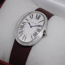 AAA Cartier Baignoire swiss womens watch steel two rows of diamonds