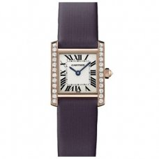 AAA Cartier Tank Francaise diamond ladies watch WE104531 pink gold