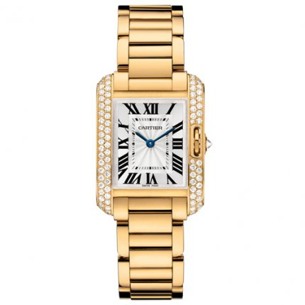 AAA Cartier Tank Anglaise diamond watch for women WT100005 18K yellow gold