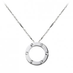 AAA Cartier Love white gold necklace pendant with three diamonds B7014600