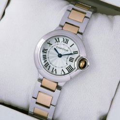 AAA Ballon Bleu de Cartier small quartz watch 18kt pink gold and steel