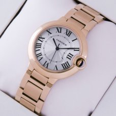 AAA Ballon Bleu de Cartier medium swiss quartz watch replica 18kt pink gold
